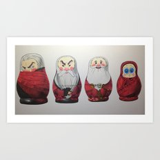 North's Matryoshkas Art Print