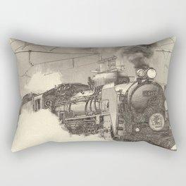 6120 Train Lithograph Rectangular Pillow