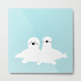 Baby seals Metal Print