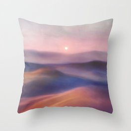 Minimal abstract landscape II Throw Pillow