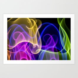 Making Smoke Swirls In The Air Art Print