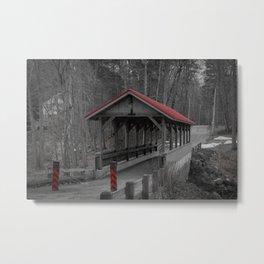 Old Stage Road Romantic Enclosure Covered Bridge Hampton New Hampshire Taylor River Metal Print