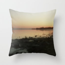 Sea through the pinhole camera Throw Pillow