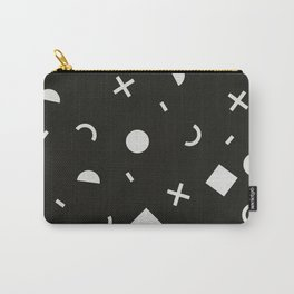 Black & White Memphis Pattern Carry-All Pouch