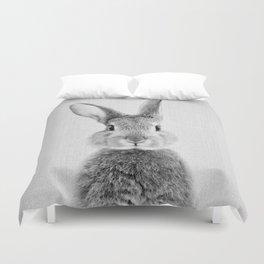 Rabbit - Black & White Duvet Cover