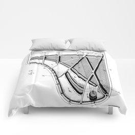 Steinway Piano Patent - Piano Player Art - Black And White Comforters