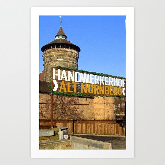 Handwerkerhof Alt Nurmeberg Art Print