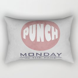 Punch Monday in the face - Red, Blue & Gray Rectangular Pillow