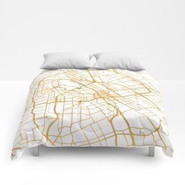 SAN JOSE CALIFORNIA CITY STREET MAP ART Comforters