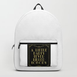 A little party - black glitz Backpack