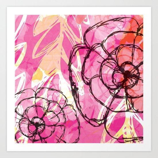 Dancing Florals Art Print