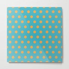 Polka / Dots - Plain Color Art Metal Print
