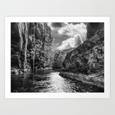 High Cliffs of Shetland Art Print