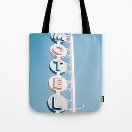 Vintage Motel Sign Tote Bag
