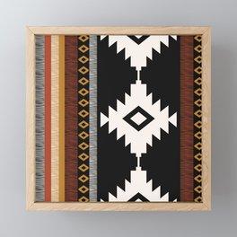 Pueblo in Sienna Framed Mini Art Print