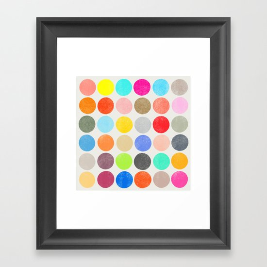 colorplay 1 sq Framed Art Print