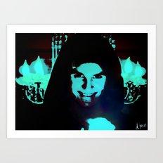 Scary Man Art Print