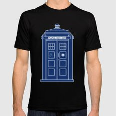 TARDIS Blueprint - Doctor Who Black MEDIUM Mens Fitted Tee