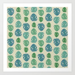 Monstera color scale Art Print