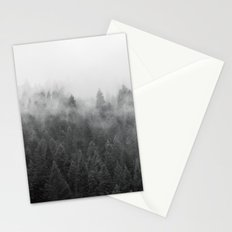 Black and White Mist Stationery Cards