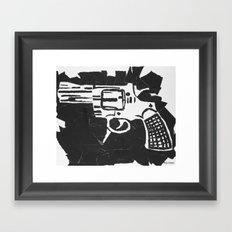 Gun. Framed Art Print