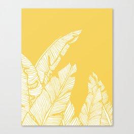 Banana Leaves on Yellow #society6 #decor #buyart Canvas Print