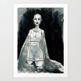 Silver Thread Cloak Art Print