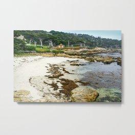 Sunset Point, Pebble Beach, California Metal Print