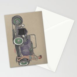 T-bucket Girl Stationery Cards