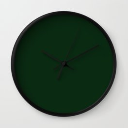 Simply Pine Green Wall Clock