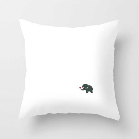 Elliefant Throw Pillow