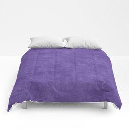 Ultra Violet Oil Pastel Color Accent Comforters