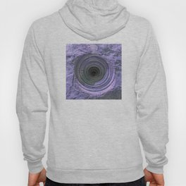 Mysterious Hole in Mountainside: Dark Lilac Version Hoody
