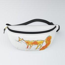 Fox illustration, fox drawing, fox design, fox painting Fanny Pack