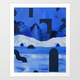 Twin Caves Art Print
