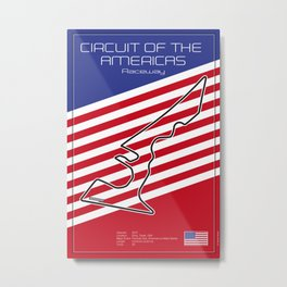Circuit of the Americas, Austin Texas Metal Print