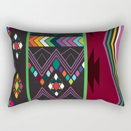 Aztec Central America Inspired Modern Geometric Design Rectangular Pillow
