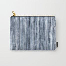 Blue Watercolor Wood Grain Stripe Carry-All Pouch