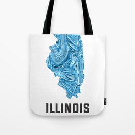 Illinois - State Map Art - Abstract Map - Blue Tote Bag