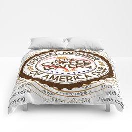 Coffee Lovers of America Club by Jeronimo Rubio 2016 Comforters