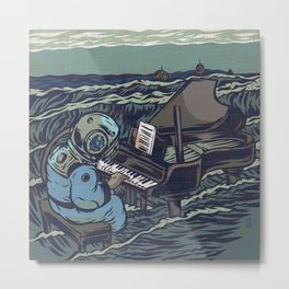 Symphony Of The Rising Tide Metal Print