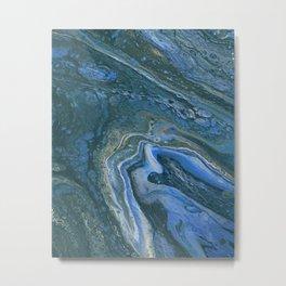 Blue Saturn Metal Print