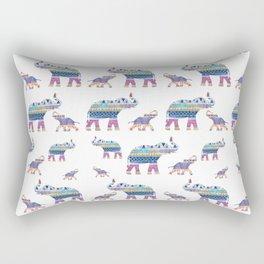 Elephant Tribal Pattern Rectangular Pillow