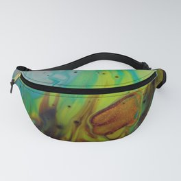 Neon Burn - Abstract Acrylic Art by Fluid Nature Fanny Pack