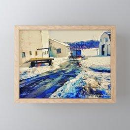 Amish Farm Framed Mini Art Print