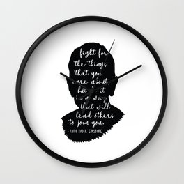 Ruth Bader Ginsburg Quote Wall Clock