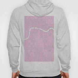 London Pink on White Street Map Hoody