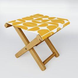 Mid Century Modern Geometric 04 Yellow Folding Stool