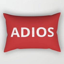 The 'Adios' Art Rectangular Pillow