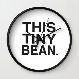 This Tiny Bean Logo Wall Clock
